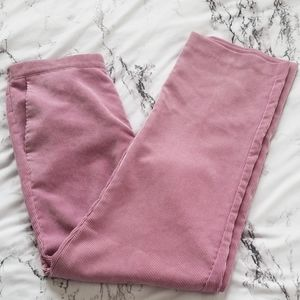 Blush pink corduroy pants